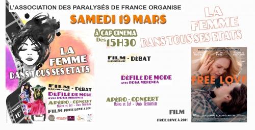 CARTON NUMERIQUE La Femme dans Tous ses Etats et Affiche Film Free Love CAP CINEMA le 19 Mars 2016.jpg